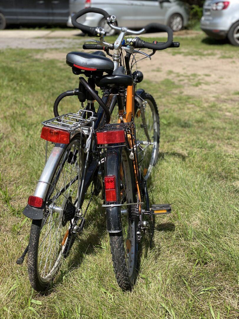 Fahrräder im Sonnenschein